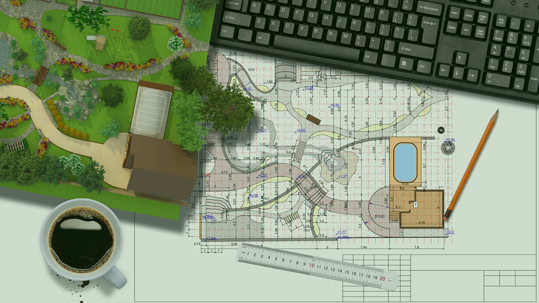 Maquette d'un projet d'aménagément extérieur